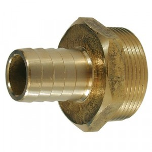 1/4 BSP - 5/16 Hose Tail Brass
