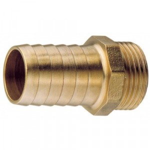 "Aquafax Brass Connector 3/8"" BSPT - 5/16"" Hose"