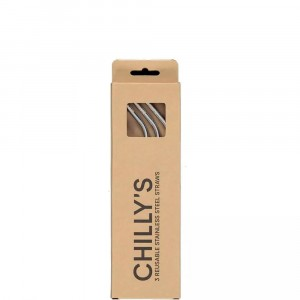 Chilly's Pack of 3 Reusable Straws