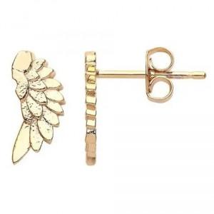 Estella Bartlett Wings Earrings Gold Plated