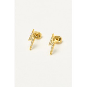 Estella Bartlett Cubic Zirconia Lightning Bolt Earrings