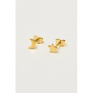 Estella Bartlett Mixed Moon and Star Earrings