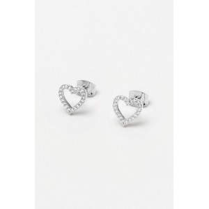 Estella Bartlett Cubic Zirconia Open Heart Earrings