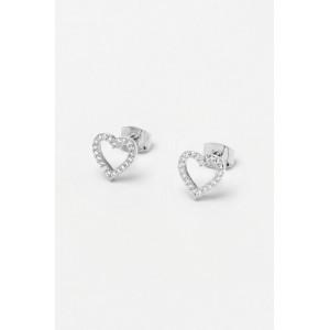 Estella Bartlett CZ Open Heart Earrings