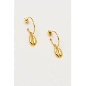Estella Bartlett Shell Drop Hoop Earrings
