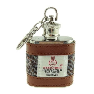 Glen Appin Harris Tweed Hip Flask Keyring