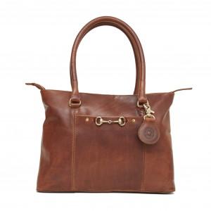 Hicks & Hides Hidcote Bit Handbag Cognac