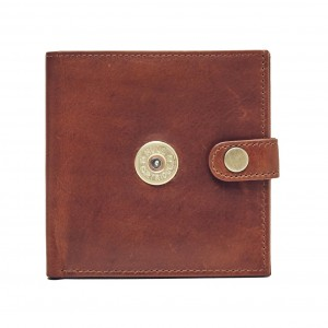 Hicks & Hides Shot Gun License Wallet Cognac
