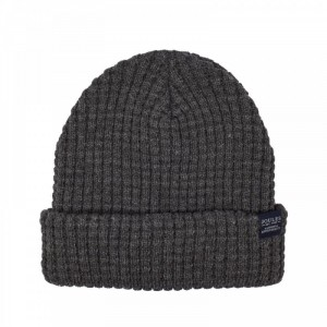 Joules Bamburgh Knitted Hat Deep Grey