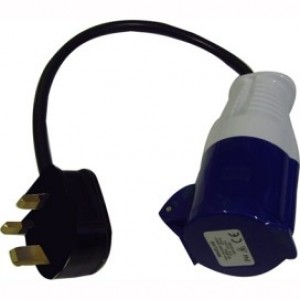 16 Amp Socket to 13AMP Plug
