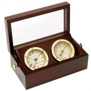 Nauticalia Boxed Clock And Barometer Set