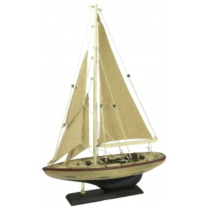 Nauticalia Display Yacht White Hull 30CM