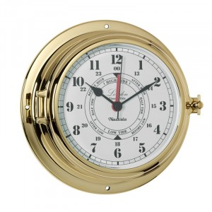 Nauticalia Brass London Tide & Time Clock