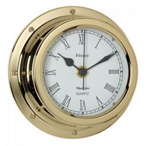 Nauticalia Brass Fitzroy Clock