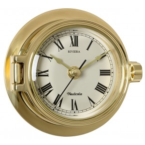 Nauticalia Riviera Clock Brass 120mm