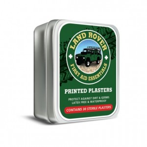 Land Rover Plasters Tin