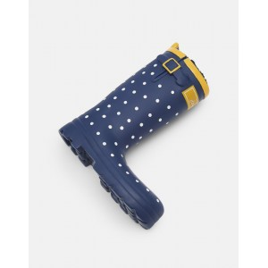 Joules Wellington Boot Pet Toy Navy Spot