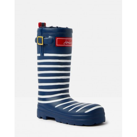 Joules Wellington Boot Pet Toy Navy Stripe