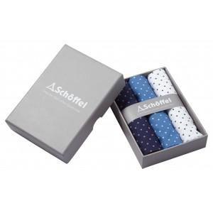 Schoffel Handkerchief (Pack of 3) Navy/Denim/White