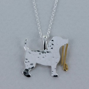Reeves & Reeves Dog With Lead Necklace