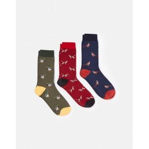 Joules Striking 3 Pack Socks