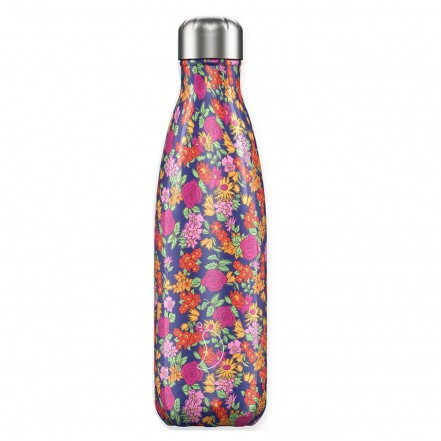 Chilly's 500ml Bottle Floral Wild Roses