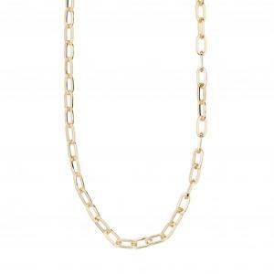 Pilgrim Bibi Necklace Gold Plated White
