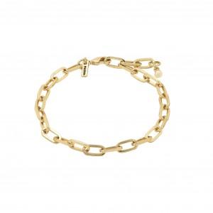 Pilgrim Bibi Bracelet Gold Plated White