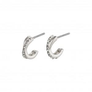 Pilgrim Anouk Earrings Silver Plated Crystal