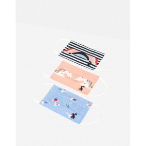 Joules Face Masks Childrens 3 Pack Unicorn