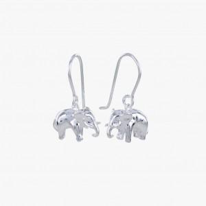Reeves & Reeves Sterling Silver Elephant Earrings