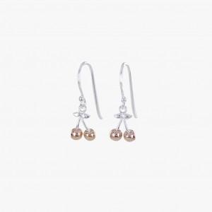Reeves & Reeves Cherry Charm Drop Earrings