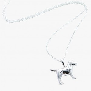 Reeves & Reeves Silver Dog Necklace