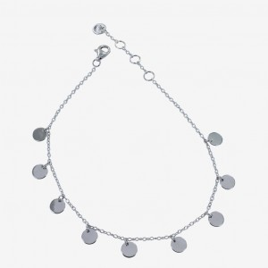 Reeves & Reeves Dotty Charm Bracelet Silver