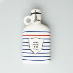 Atlantic Folk Ceramic Flask Hemingway