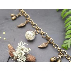 The Butterfly & Toadstool Lichen Terrarium Bracelet