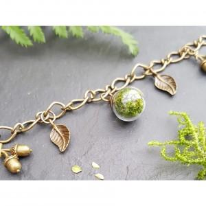 The Butterfly & Toadstool Moss Terrarium Bracelet