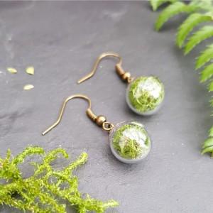 The Butterfly & Toadstool Moss Terrarium Earrings