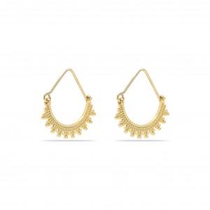 Pilgrim Kiku Earrings Gold