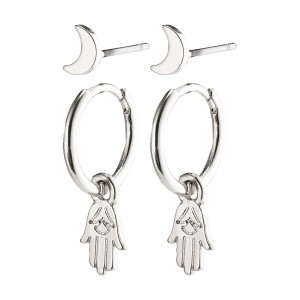 Pilgrim Nyla Earrings Silver