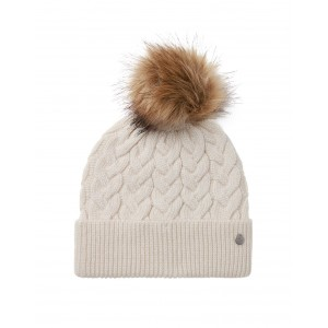 Joules Elena Cable Hat Cream