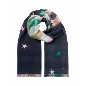 Joules Farnsley Scarf Navy Star
