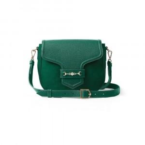 Fairfax & Favor The Fitzwilliam Saddle Bag Emerald