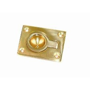 Holt Marine Flush Pull Ring Brass