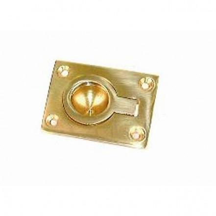 Holt Marine Flush Pull Ring Brass