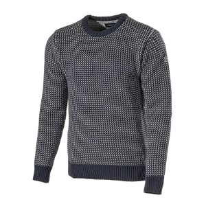 Holebrook Eino Crew Neck Sweater Navy/White