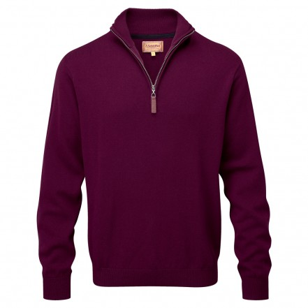 Schoffel Cashmere Cotton 1/4 Zip Neck Jumper