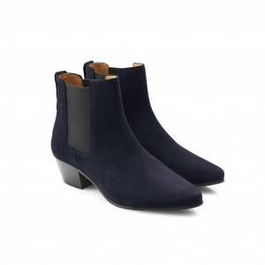 Fairfax & Favor Athena Boot Navy Suede