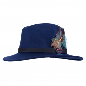 Hicks & Brown Fedora Navy