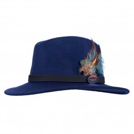 Hicks & Brown Suffolk Fedora (Classic Feather)